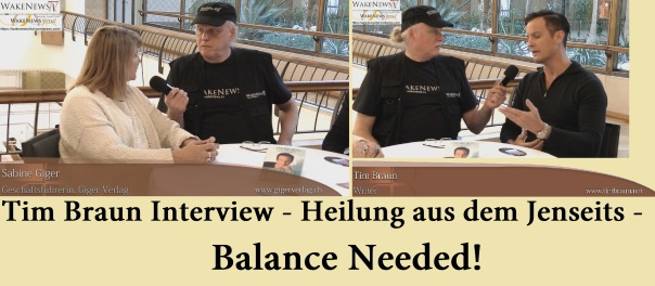 Tim Braun Interview - Heilung aus dem Jenseits - Balance Needed